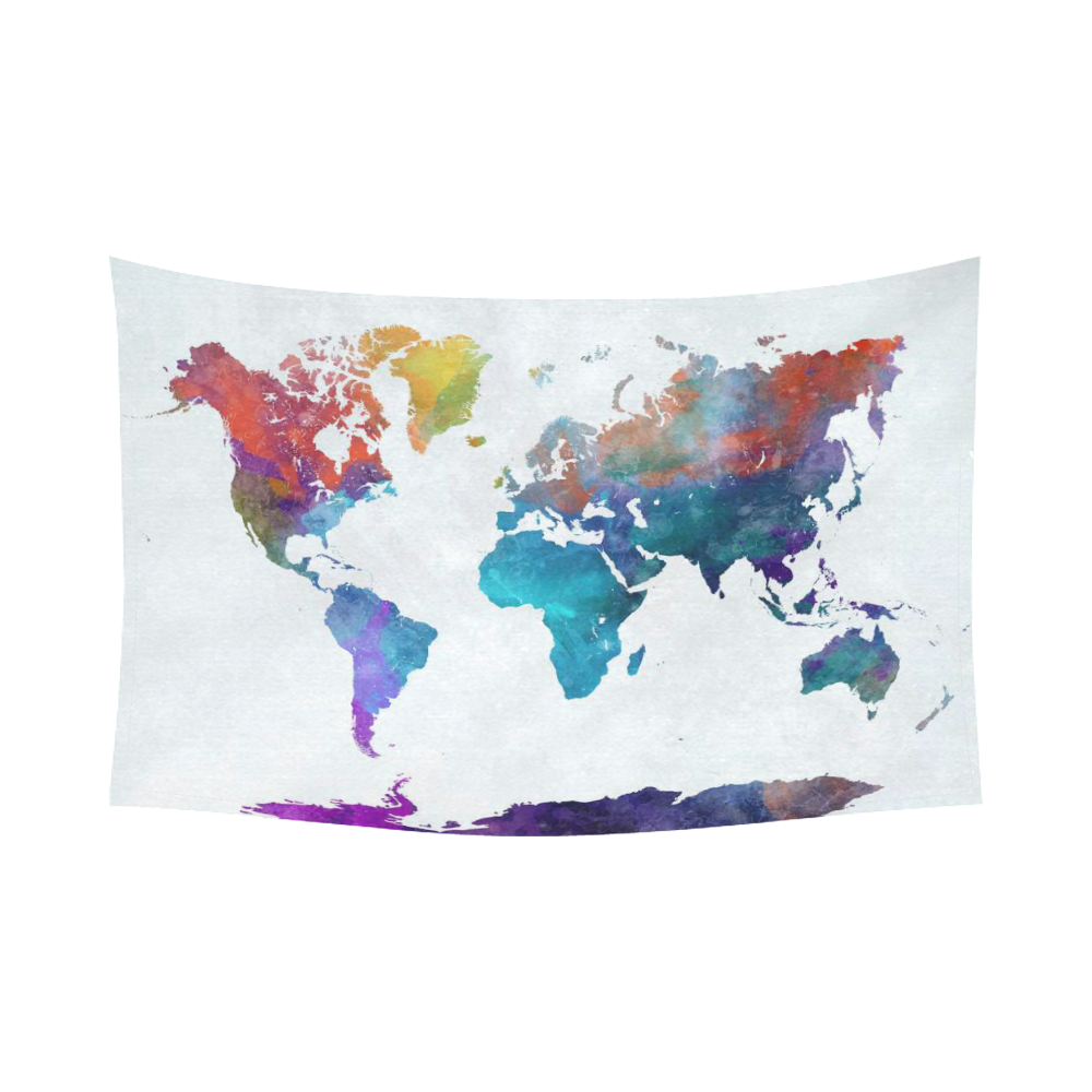 Interestprint abstract art splatter painting home decor interestprint abstract art splatter painting home decor watercolor world map colorful cotton linen tapestry wall hanging art sets gumiabroncs Image collections