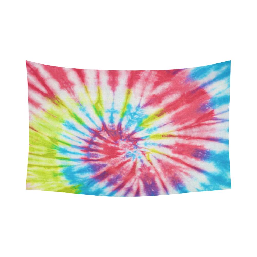 InterestPrint Home Decor Wall Art Popular Rainbow Tie Dye Cotton Linen Tapestry Hanging Sets