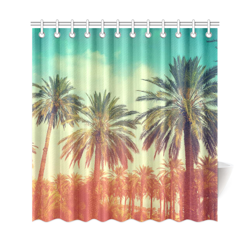 InterestPrint Sunset Tropical Palm Trees Home Decor Polyester Fabric ...
