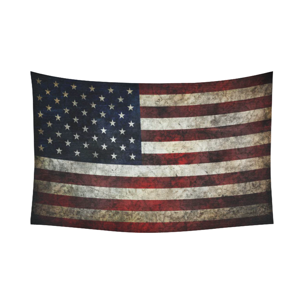 Interestprint american flag wall art home decor usa flag for Home decor online shopping usa