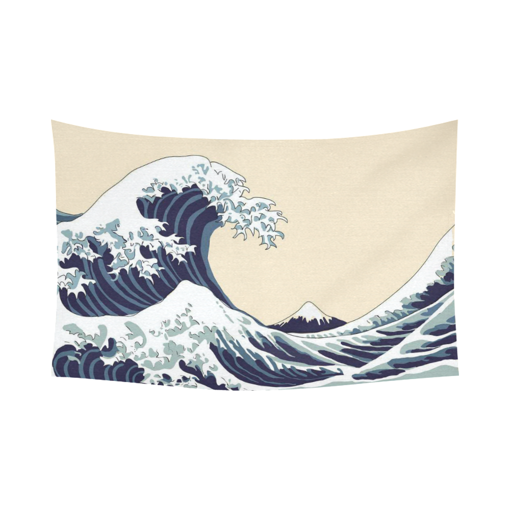 Interestprint The Great Wave Off Kanagawa Tapestry Wall