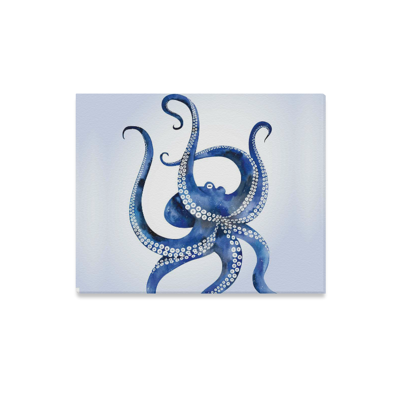 7d3d911bca76 US$ 24.99 InterestPrint Watercolor Blue Octopus Tentacle Canvas Wall Art  Print Painting Wall Hanging Artwork for Home Decoration