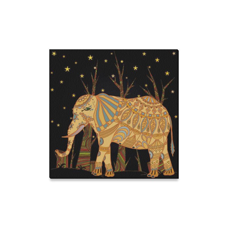 InterestPrint Mandala Elephant Starry Night Canvas Wall Art Print ...