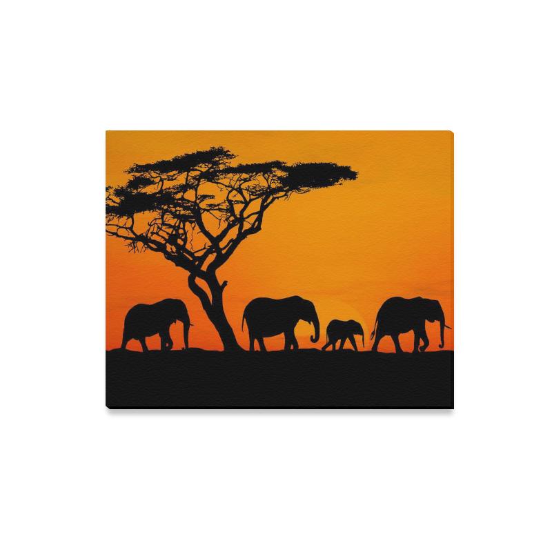 Well-known InterestPrint African Elephant Sunset Safari Canvas Wall Art Print  KZ68