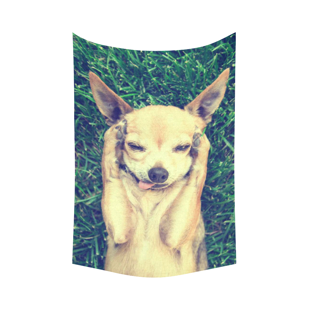 InterestPrint Funny Animal Wall Art Home Decor, Cute Chihuahua Dog ...