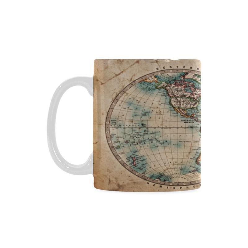 Interestprint Kitchen Dining Vintage World Map Ceramic Coffee Mug
