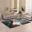 InterestPrint Sweet Home Modern Collection Custom Guitar Area Rug 5'x3'3'' Indoor Soft Carpet