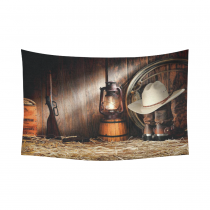 InterestPrint American West Rodeo Cowboy Home Decor Wall Art, Western Decor Cotton Linen Tapestry Wall Hanging Art Sets