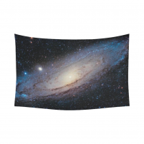 InterestPrint Galaxy Space Home Decor Wall Art, Nebula Universe Outer Space Cotton Linen Tapestry Wall Hanging Art Sets