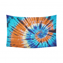 InterestPrint Cotton Linen Bule Orange Tie Dye Hippie Tapestry Wall Hanging Art for Home,Apartment,Dorms and Office Sets