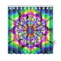 InterestPrint Geometric Mandala Home Decor,Hippie Indian Flower Polyester Fabric Shower Curtain Bathroom Sets