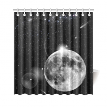 InterestPrint Solar System Landscape Home Decor,Galaxy Nebula Universe Outer Space Earth Planet Polyester Fabric Shower Curtain Bathroom Sets