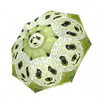 InterestPrint Cute Panda Green Foldable Travel Rain Umbrella