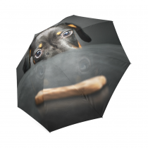 InterestPrint Funny Dachshund Foldable Travel Rain Umbrella