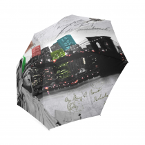 InterestPrint New York City Statue of Liberty Foldable Travel Rain Umbrella