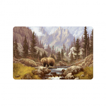 InterestPrint Anti-slip Door Mat Home Decor Grizzly Bear in the Rocky Mountains Indoor Outdoor Entrance Doormat Rubber Backing
