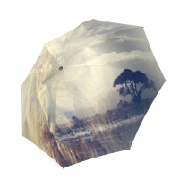 InterestPrint Magic Nature Landscape Lion Sky Tree Abstract Art Foldable Travel Rain Umbrella