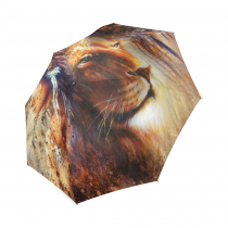 InterestPrint Indian Woman Lion Abstract Art Foldable Travel Rain Umbrella