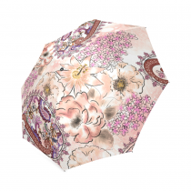 InterestPrint Vintage Paisley Floral Print Foldable Travel Rain Umbrella
