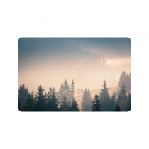 InterestPrint Fog over Mountain Anti-slip Door Mat Home Decor, Morning Sunrise Light Indoor Outdoor Entrance Doormat Rubber Backing