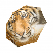 InterestPrint Hipster Beautiful Clear Amur Tiger Face Foldable Travel Rain Umbrella