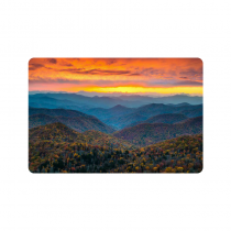 InterestPrint North Carolina Blue Ridge Parkway Mountains Anti-slip Door Mat Home Decor, Sunset Scene Indoor Outdoor Entrance Doormat Rubber Backing