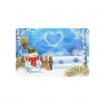 InterestPrint Snow Snowflake Winter Landscape Anti-slip Door Mat Home Decor, Christmas Snowman Indoor Outdoor Entrance Doormat Rubber Backing