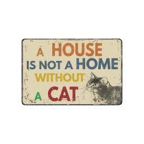 InterestPrint Brown Vintage Cat Anti-slip Door Mat Home Decor, Funny Quote Indoor Outdoor Entrance Doormat Rubber Backing