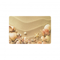 InterestPrint Ocean Anti-slip Door Mat Home Decor, Starfish Seashells on Sunmmer Sandy Beach Indoor Outdoor Entrance Doormat Rubber Backing