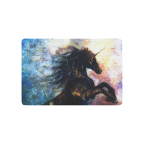 InterestPrint Animal Anti-slip Door Mat Home Decor, Black Unicorn Painting Indoor Outdoor Entrance Doormat Rubber Backing