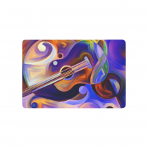 InterestPrint Abstract Art Anti-slip Door Mat Home Decor, Music Guitar Colorful Painting Indoor Outdoor Entrance Doormat Rubber Backing