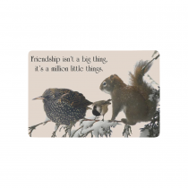 Inspirational quote on friendship with three anima Doormat 23.6  x 15.7