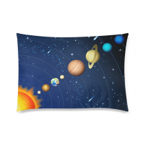 InterestPrint Solar System Background Comfortable Cotton Polyester Pillowcase Pillow slip Cushion case pillow cover Two Side Printing 30inch X 20inch