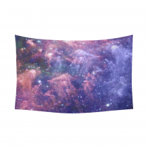 InterestPrint Cosmos Cosmic Background Wall Art Home Decor, Stars of a Planet and Galaxy in a Outer Space Cotton Linen Tapestry Wall Hanging Art Sets