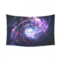 InterestPrint Cosmos Cosmic Wall Art Home Decor, Incredibly Beautiful Spiral Galaxy in Deep Space Cotton Linen Tapestry Wall Hanging Art Sets