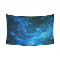 InterestPrint Cosmos Cosmic Wall Art Home Decor, Nebula Tapestry Outer Space Infinity Galaxy Universe Stars Cotton Linen Wall Hanging Art Sets