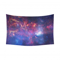InterestPrint Cosmos Decor Collection Wall Art, Universe Stars, Nebula and Galaxy Cotton Linen Tapestry Wall Hanging Art Sets