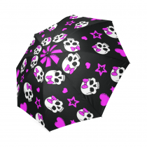 InterestPrint Stylish Dia De Los Muertos Foldable Travel Fashion Umbrella