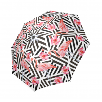 InterestPrint Stylish Flamingo Foldable Travel Fashion Umbrella