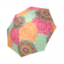 InterestPrint Stylish Colorful Mandala Foldable Travel Fashion Umbrella