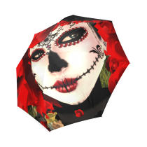 InterestPrint Stylish Sugar Skull Foldable Umbrella 43  Arc