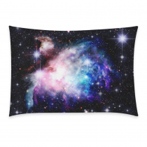 InterestPrint Universe Space Nebula Galaxy Colorful Twinkling Stars Sky Pillowcase Standard Size 20 x 30 Inches for Couch Bed - Deep Space Nebula with Star Pillow Cases Cover Set Pet Shams Decorative