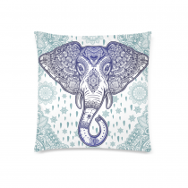 InterestPrint Retro Beautiful Bohemian Elephant Paisley Pillowcase for Couch Bed 18 x 18 Inches - Folk Seamless Pattern Comfortable Soft Pillow Cover Case Shams Decorative