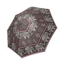 InterestPrint Vintage Aztec Elephant Foldable Travel Rain Umbrella
