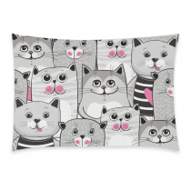 InterestPrint Cute Cats Seamless Pattern Home Decor, Lovely Cat Soft Pillowcase 20 x 30 Inches One Side - Animal Print Pillow Cover Case Shams Decorative