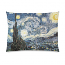 InterestPrint Dr Doctor Who Vincent Van Gogh Starry Night Pillowcase Standard Size 20 x 26 Inches One Side - Tardis Police Box Starry Night Oil Canvas Pillow Case Cover Set Pet Shams Decorative