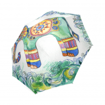 InterestPrint Indian Floral Print Elephant Mandala Foldable Travel Rain Umbrella