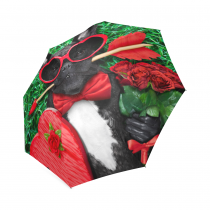 InterestPrint Pug Puppy Dog Bulldog Love Valentines Gifts Foldable Travel Umbrella