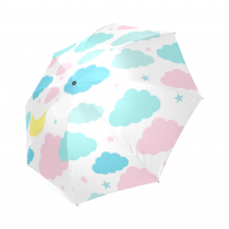 Childish seamless pattern with moon, clouds, stars Foldable Umbrella