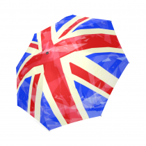 InterestPrint Stylish Ladies Union Jack Frozen Foldable Travel Rain Umbrella
